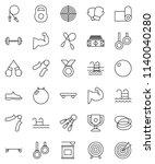 thin line vector icon set  ... | Shutterstock .eps vector #1140040280