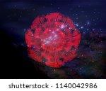 Cosmic Flower. A Galaxy  A...