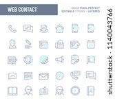 website and internet contact    ... | Shutterstock .eps vector #1140043766