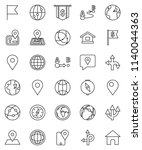 thin line vector icon set  ... | Shutterstock .eps vector #1140044363