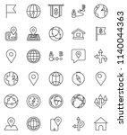 thin line vector icon set  ... | Shutterstock .eps vector #1140044363