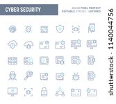 cyber and digital security  ... | Shutterstock .eps vector #1140044756