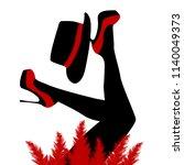 beautiful cabaret dancer with...   Shutterstock . vector #1140049373