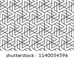 abstract geometric pattern with ... | Shutterstock .eps vector #1140054596