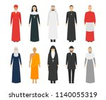 cartoon characters religion... | Shutterstock .eps vector #1140055319