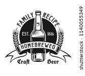 brewing emblem  label  badge or ... | Shutterstock .eps vector #1140055349