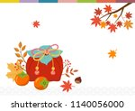 korean traditional wrapping... | Shutterstock .eps vector #1140056000
