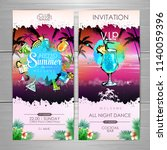 summer cocktail party poster... | Shutterstock .eps vector #1140059396