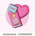online dating design | Shutterstock .eps vector #1140060023