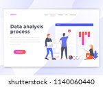 landing page template of data... | Shutterstock .eps vector #1140060440