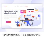 landing page template of manage ... | Shutterstock .eps vector #1140060443