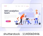 landing page template of seo... | Shutterstock .eps vector #1140060446