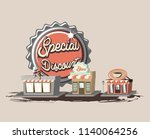 retro shopping style | Shutterstock .eps vector #1140064256