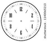 clock face for house  alarm ...   Shutterstock .eps vector #1140065213