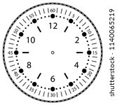 clock face for house  alarm ... | Shutterstock .eps vector #1140065219
