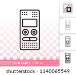 recorder thin line icon.... | Shutterstock .eps vector #1140065549