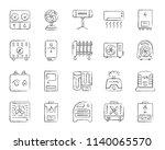 hvac charcoal icons set. grunge ... | Shutterstock .eps vector #1140065570