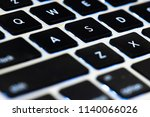 close up flat keyboard laptop... | Shutterstock . vector #1140066026