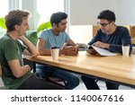 instructor checking knowledges...   Shutterstock . vector #1140067616