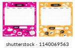 vector kids schedule set with... | Shutterstock .eps vector #1140069563