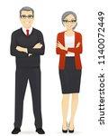 cheerful mature business man... | Shutterstock .eps vector #1140072449