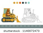 coloring book with a contour...   Shutterstock .eps vector #1140072473
