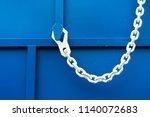 white chain on blue | Shutterstock . vector #1140072683