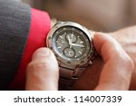Businessman Checking The Time...