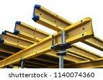 beams for monolithic frame... | Shutterstock . vector #1140074360