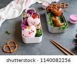 delicious homemade take away... | Shutterstock . vector #1140082256