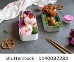 delicious homemade take away... | Shutterstock . vector #1140082283