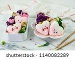 delicious homemade take away... | Shutterstock . vector #1140082289