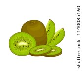 vector composition with kiwi.... | Shutterstock .eps vector #1140085160