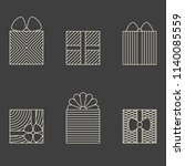 set of minimalistic linear gift ...   Shutterstock .eps vector #1140085559