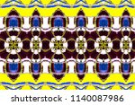 colorful horizontal pattern for ... | Shutterstock . vector #1140087986