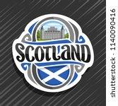 vector logo for scotland ... | Shutterstock .eps vector #1140090416