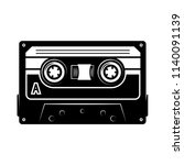 audio cassette illustration.... | Shutterstock .eps vector #1140091139