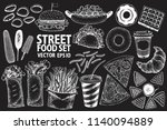 fast food vector illustration... | Shutterstock .eps vector #1140094889