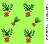 green palm leaves pattern for... | Shutterstock . vector #1140095840