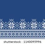 norway festive sweater fairisle ... | Shutterstock .eps vector #1140095996