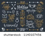 cute decorations for wedding... | Shutterstock .eps vector #1140107456
