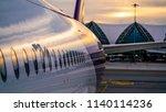 parking airplane aircraft   Shutterstock . vector #1140114236