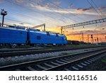 railroad infrastructure during... | Shutterstock . vector #1140116516