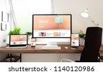 3d rendering of computer ... | Shutterstock . vector #1140120986
