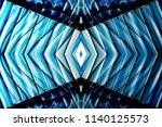 windows reflecting blue sky.... | Shutterstock . vector #1140125573