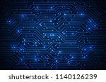 abstract technology background  ... | Shutterstock .eps vector #1140126239