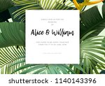 floral wedding invitation with... | Shutterstock .eps vector #1140143396