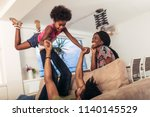 african american family... | Shutterstock . vector #1140145529