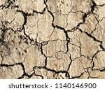 cracked clay ground surface... | Shutterstock . vector #1140146900