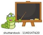 book worm teacher cartoon...   Shutterstock .eps vector #1140147620